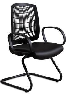 Cadeira De Escritório Interlocutor Lacan Preta