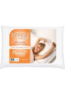 Travesseiro Percal Branco 50X70