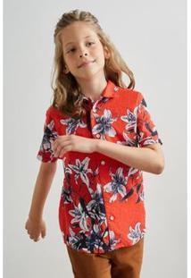 Camisa Pf Mini Mc Delirios Reserva Mini Masculina - Masculino-Vermelho