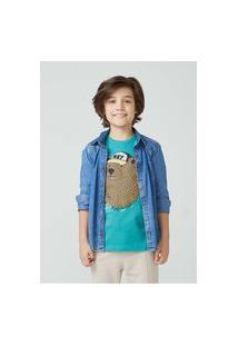 Camisa Jeans Infantil Menino