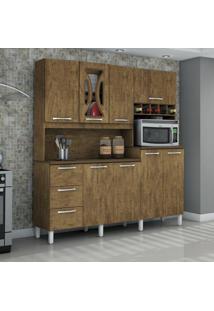 Armário Para Cozinha 8 Portas Criative Valdemóveis Ipê