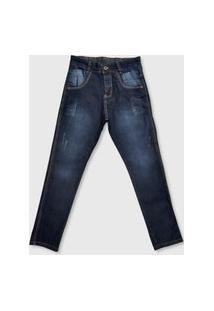 Calça Brankis Slim Premium Jeans Azul
