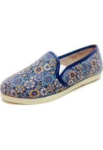 Slipper Comfort Bfprime Azul Floral
