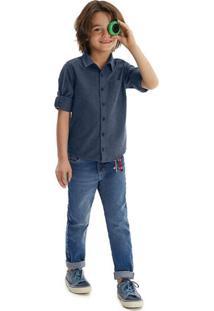 Camisas Malwee Kids Malwee Kids Azul Marinho