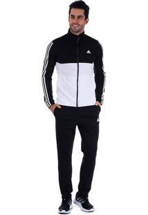 Agasalho Masculino Adidas Back2Bas 3S - Pto/Bco