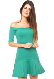 Vestido Ciganinha Sommer Curto Sino Verde