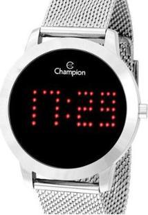 Relógio Champion Digital Ch40017T Feminino - Feminino-Prata