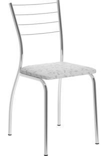 Kit 2 Cadeiras 1700 Tecil Fantasia Móveis Carraro Branco