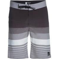 e36bb5ead4 Bermuda Quiksilver Boardshort Caliber Masculina - Masculino-Cinza+Preto