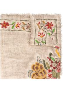 Faliero Sarti Cachecol Com Estampa Floral - 57756