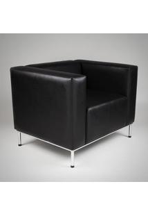 Sofá Quadra 1 Lugar Estrutura Aço Inox Design By Studio Artesian