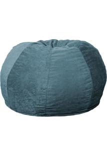 Puff Confort Maçã Suede Azul 120 Cm