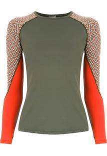 Track & Field Camiseta 'Surf' Mangas Longas - Verde