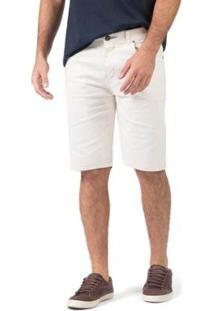 Bermuda Taco Jeans Denim Masculina - Masculino-Off White