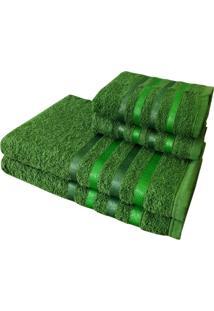Jogo 4 Toalhas 2 Banho 2 Rosto - Onix Verde - Verde - Dafiti