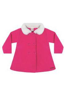 Casaco Time Kids Inverno Tweed Pink