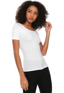 Camiseta Hering Ajustada Branca