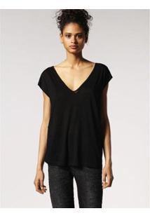 Camiseta Diesel T-Wow Feminina - Feminino-Preto
