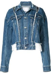 Ground Zero Jaqueta Jeans Com Recortes - Azul