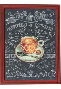 Quadro Decorativo Time For Coffee