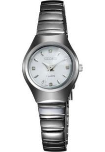 Relógio Skone Analógico 7101L Branco