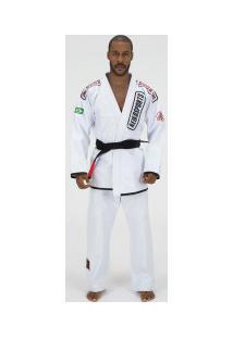 Kimono De Jiu-Jitsu Keiko Série Limitada - Adulto - Branco
