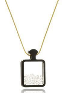 Colar Le Diamond Acrílico E Cristais Swarovski Cristal