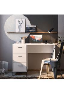 Mesa Para Computador 3 Gavetas Santa Mônica Branco - Politorno