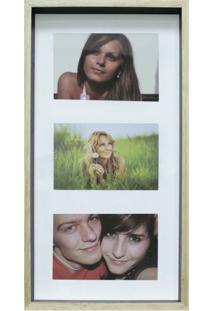 Quadro Para Fotos Wood Natural E Preto 20X40Cm