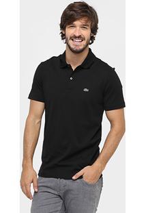Camisa Polo Lacoste Malha Original Fit Masculina - Masculino-Preto 04b22c457c