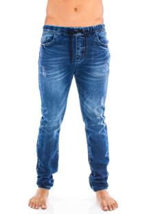 Calça Jogger Jeans La Moustache Bangkok Azul Marinho - Kanui