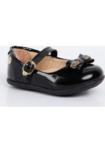 Sapato Infantil Verniz Laço Pé Com Pé 13150
