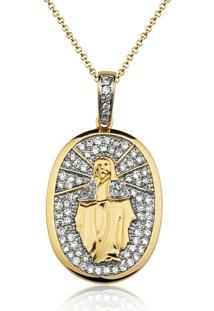 Colar Le Diamond Nossa Senhora Das Graã§As Dourado - Dourado - Feminino - Dafiti