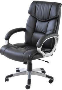 Cadeira Office Cartagena Pu Preto Base Nylon - 21292 - Sun House