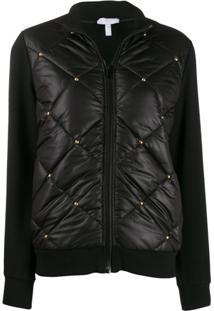 Escada Sport Studded Quilted Jacket - Preto