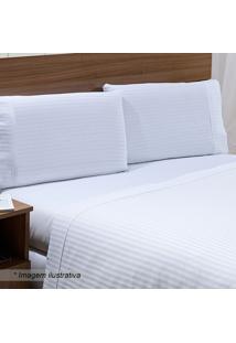 Jogo De Cama Stripe Queen Size- Branco- 4Pçs- 30Niazitex