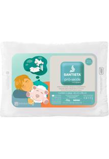 Travesseiro Pró-Saúde Crescidinhos - Santista Branco