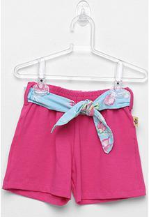 Short Infantil Andritex Cotton Feminino - Feminino-Pink