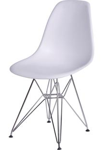 Cadeira Dkr Polipropileno E Base De Metal Pian – Branca