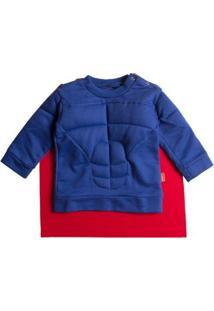 Casaco Infantil Moletom Blue Hero Masculina - Masculino-Azul