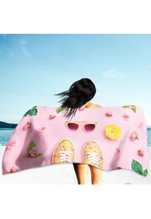 Toalha De Praia / Banho Pink Pastel Color