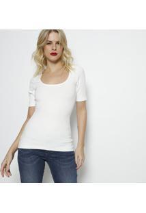 Camiseta Canelada- Branca- Forumforum