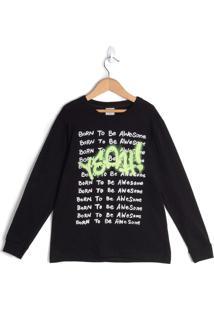 Camiseta Infantil Rovitex Preto - 6