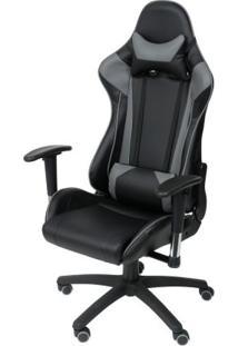 Cadeira Office Gamer Fun Em Pu Cor Preto Com Base Nylon - 46655 - Sun House