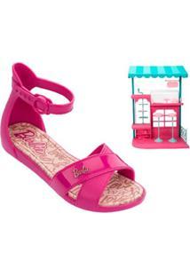 Sandália Infantil Barbie Confeitaria + Brinde