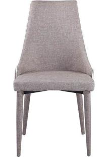 Cadeira Bella Estofada Marrom Claro