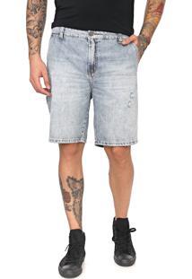 Bermuda Jeans Ellus 2Nd Floor Reta Estonada Azul
