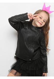 Jaqueta Infantil Zeep! Matelassê Feminina - Feminino