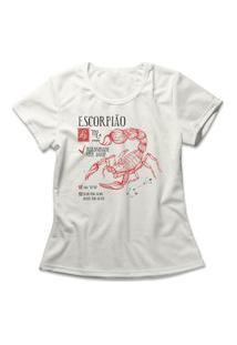 Camiseta Feminina Signo Escorpião Off-White
