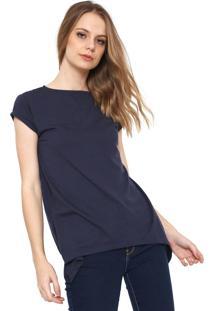 Camiseta Only Lisa Azul-Marinho